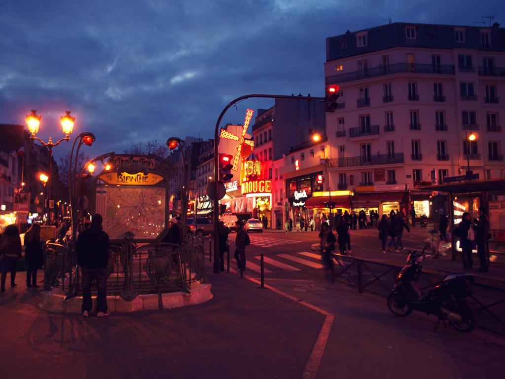 Rotlichtviertel Pigalle in Paris